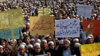 معترضان به فیسبوک در پاکستان