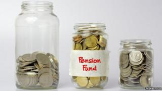 jam jar with pension savings