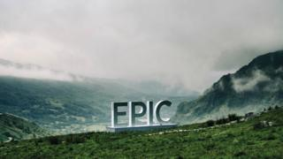 EPIC sign on the mountains