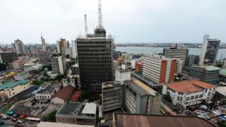 View of one part of Lagos