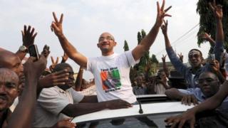 Michel Gbagbo, le fils de l'ancien président ivoirien Laurent Gbagbo, ici en 2013.