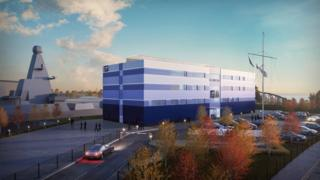 An artist's impression of the new Royal Navy training facility