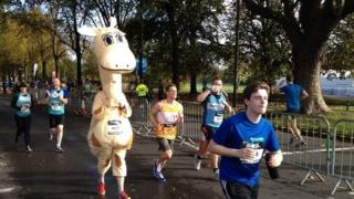 Runners in the Great Birmingham Run 2014