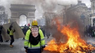 Paris'teki Sarı Yelekliler protestoları