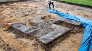 giant concrete swastika unearthed in Hamburg