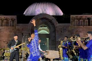 in_pictures Femi Kuti and British band Coldplay performing in Amman, Jordan - Saturday 23 November 2019