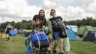Campers at Bloodstock on Thursday