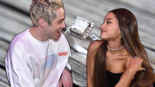 Ariana Grande, Pete Davidson and an engagement ring