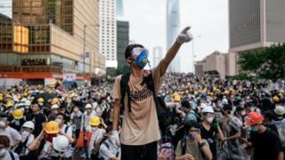 Protes 12 Juni di Hong Kong China