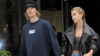 Justin Bieber and Hailey Baldwin are seen on September 14, 2018 in New York City.