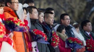 Массовая китайская свадьба