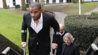 Jason Puncheon arrives at court