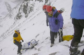 MacInnes Stretcher in use by a rescue team