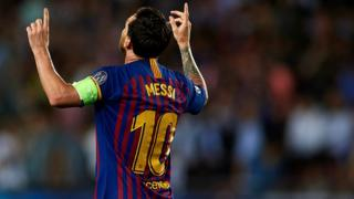Lionel Messi score three goals for Barcelona on Tuesday