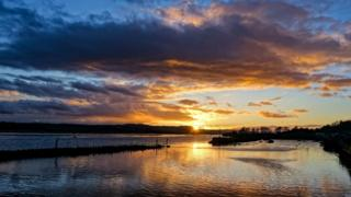Sunset over the Clyde