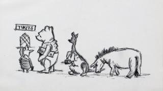 Unseen Winnie the Pooh sketches to be auctioned after decades under bed