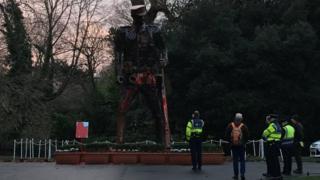 The Haunting Soldier vandalised