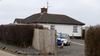 The shooting happened at about 22:00 GMT on the Tullymore Road