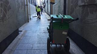 Street cleaning in Belfast