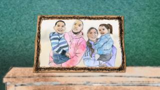 Animation of adopted family