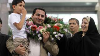 Shahram Amiri arrives back in Tehran (15/07/2010)