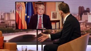 Alfonso Dastis en entrevista con Andrew Marr.