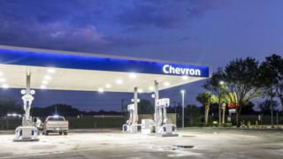 Florida, Stuart, Chevron gas station
