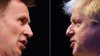 Jeremy Hunt y Boris Johnson