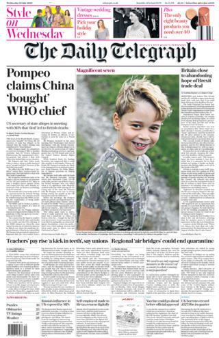 Daily Telegraph 22 July 2020