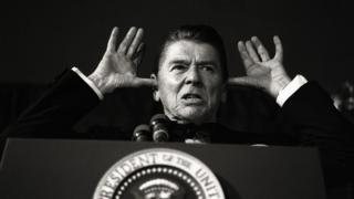 L'ancien président américain Ronald Reagan
