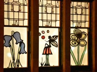 Decorated window in Strathbungo