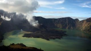 A view of Mount Rinjani, also known as Gunung Rinjani, is seen on May 19, 2009 in Lombok, West Nusa Tenggara Province, Indonesia