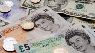 US dollar and UK sterling notes and coins