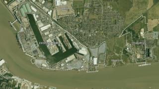 Aerial plans for new port
