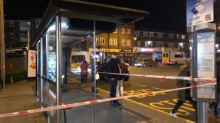Police near Queensbury station