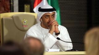 الشيخ عبد الله بن زايد آل نهيان، وزير الخارجية الإماراتي،