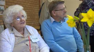 Joyce Samuel, 84, and Tony Lane, 71, use a day centre which runs as a cooperative