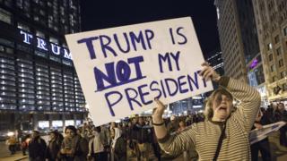 Протесты против победы Трампа