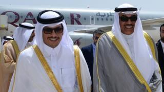 وزرای خارجه کویت و قطر