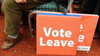 Vote Leave sign