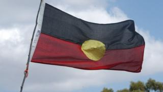 An Aboriginal flag