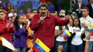 Rais wa Venezuela, katika moja ya hotuba zake