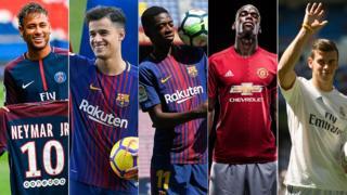Neymar, Coutinho, Dembélé, Pogba y Bale