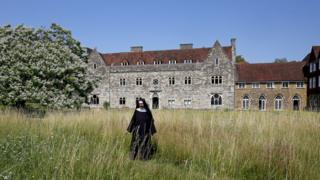 Mother Mary David at Malling Abbey