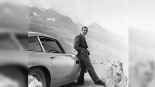Sean Connery as James Bond with DB5