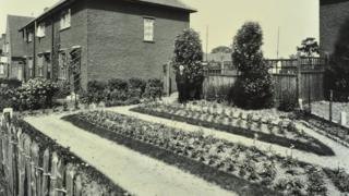 Garden at 187 Valence Wood Road, Becontree Estate, Ilford, London, 1929