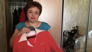 Evgenia Magurina with her Aeroflot uniform