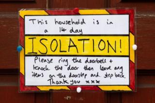 Self-isolation notice