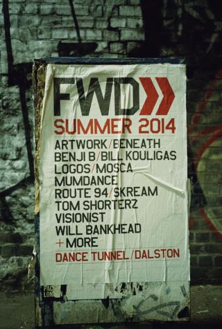 A poster for a night at Dalston's dance tunnel