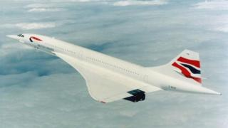 BA British Airways Concorde in 2000